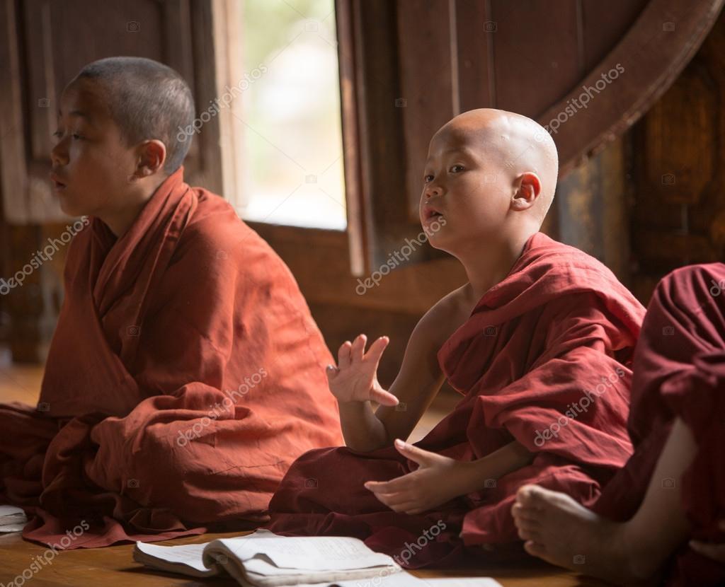 Burmese Buddhist novices in Mandalay
