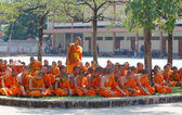 Young monks wearing orange robes