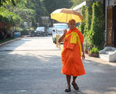 Buddhistický mnich v Bangkoku, Thajsko