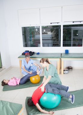 Therapists working with kids