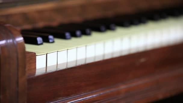 Vintage zongora billentyűk
