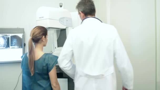 Doctor doing a mammography
