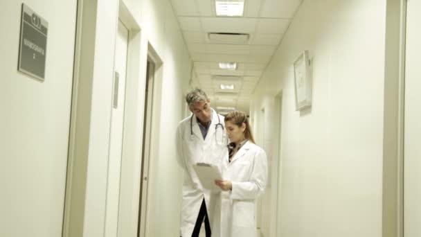 Doctors talking in hospital