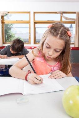 Little children  studying