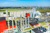 Fotografie Luftbild der Biokraftstoff-Fabrik