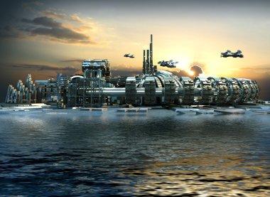 Futuristic Marina City