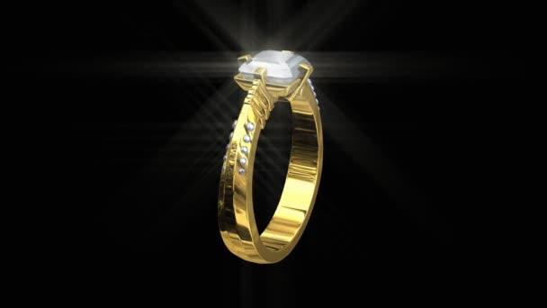 3D zlaté snubní prsten