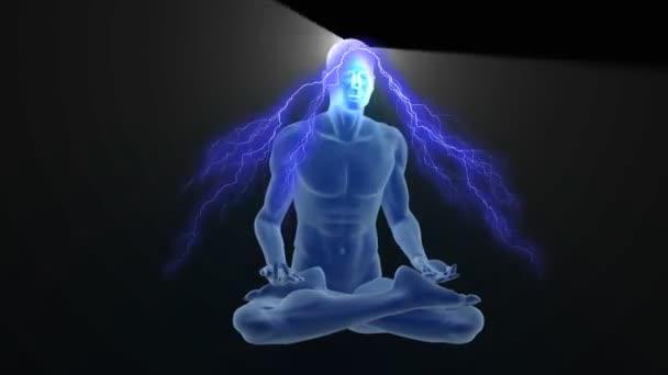 3D osvícené jóga meditace
