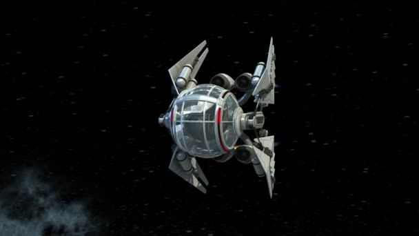 Spherical manned drone orbiting a planet