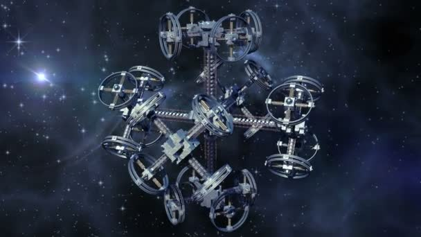 A spaceship with multiple gravitational wheels