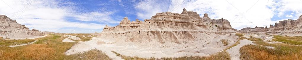 seamless 360 panorama of badlands