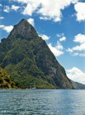 view of pitons, st lucia