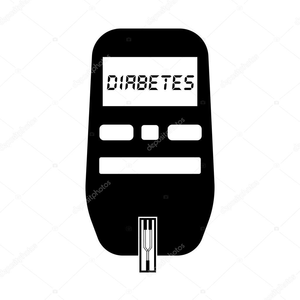Blutzucker-Messgerät für Diabetes Test flach Symbol — Stockvektor ...