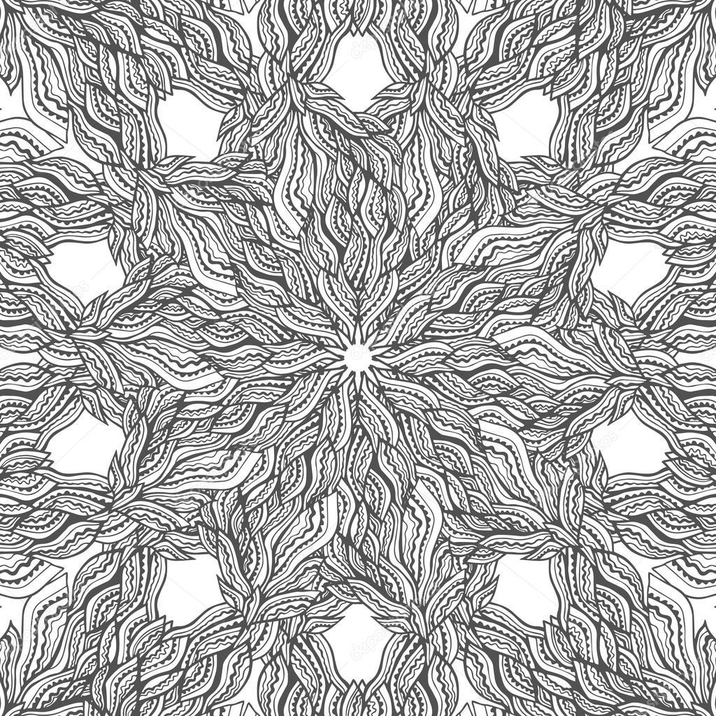 Tarjeta de vector de Mandala sobre fondo blanco. Diseño de página de ...