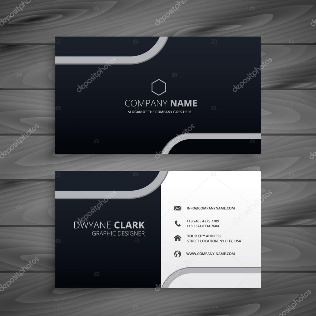 Dark business card stock vector starline 102810282 dark business card vector illustration vector by starline colourmoves