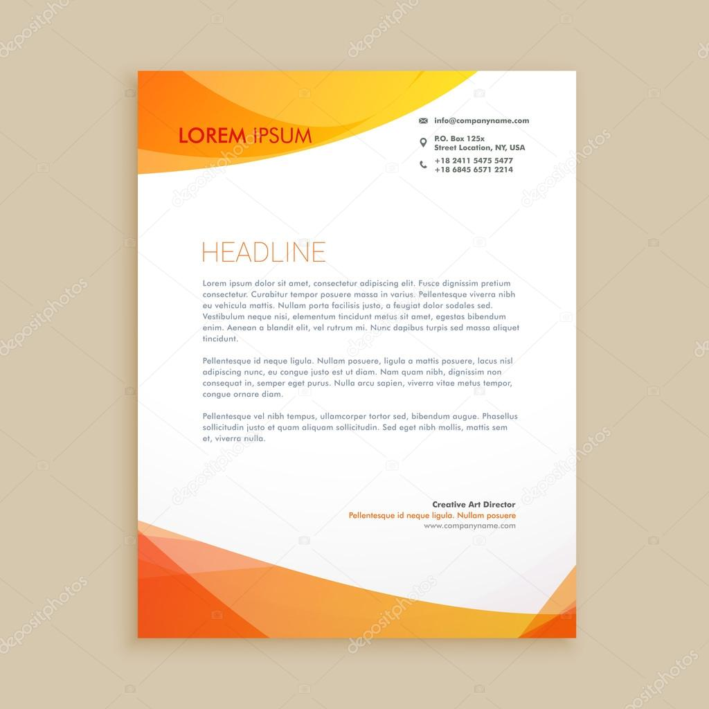 Creative Business Letterhead Design  Stock Vector  Starline