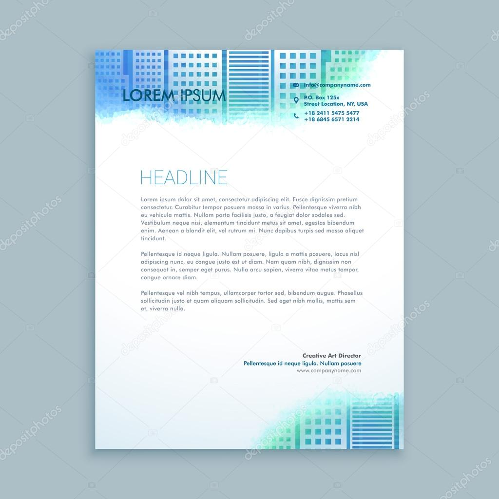 Abstrakte Moderne Briefbogen Gestaltung Stockvektor Starline