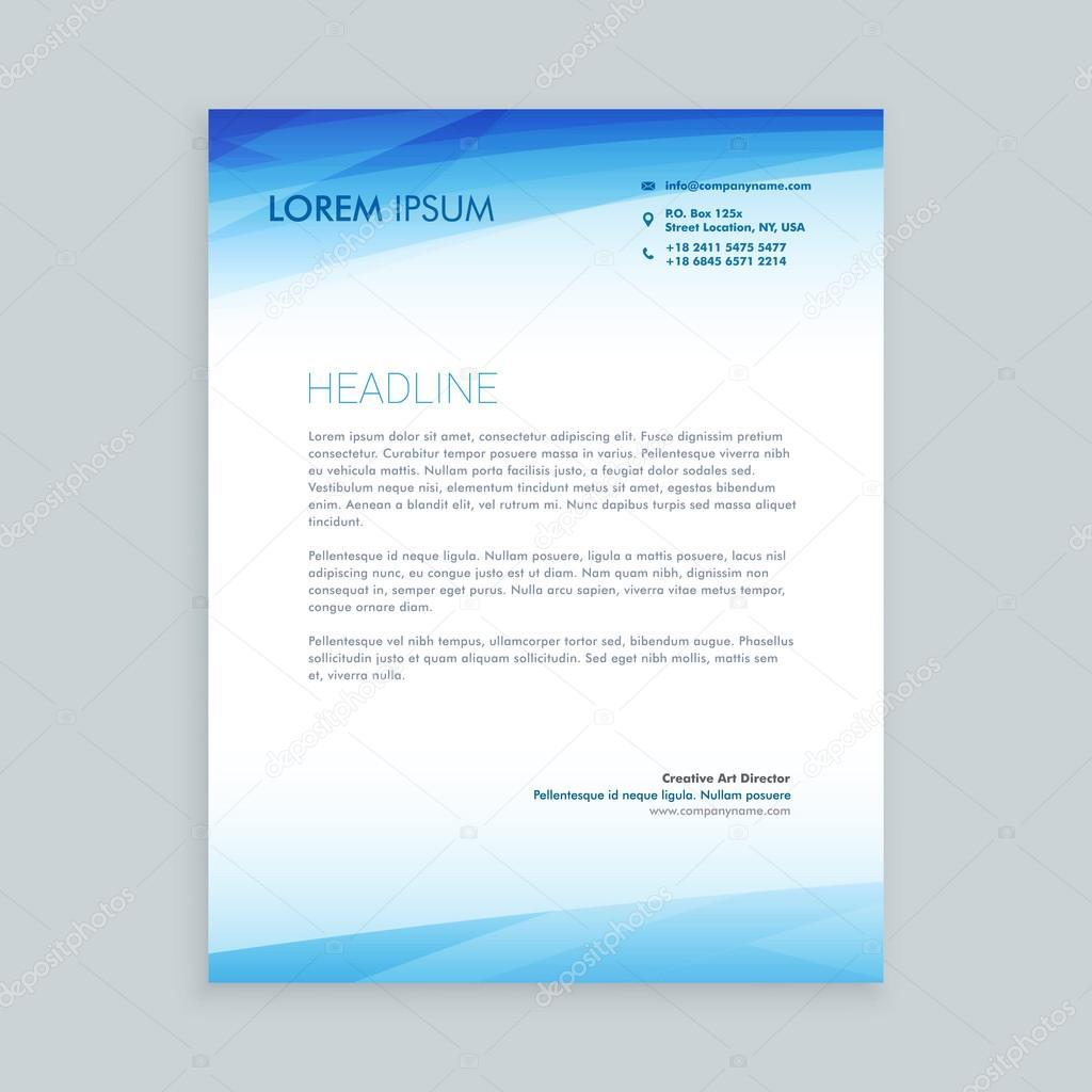 Business Briefbogen Gestaltung Vektor Illustrator Stockvektor