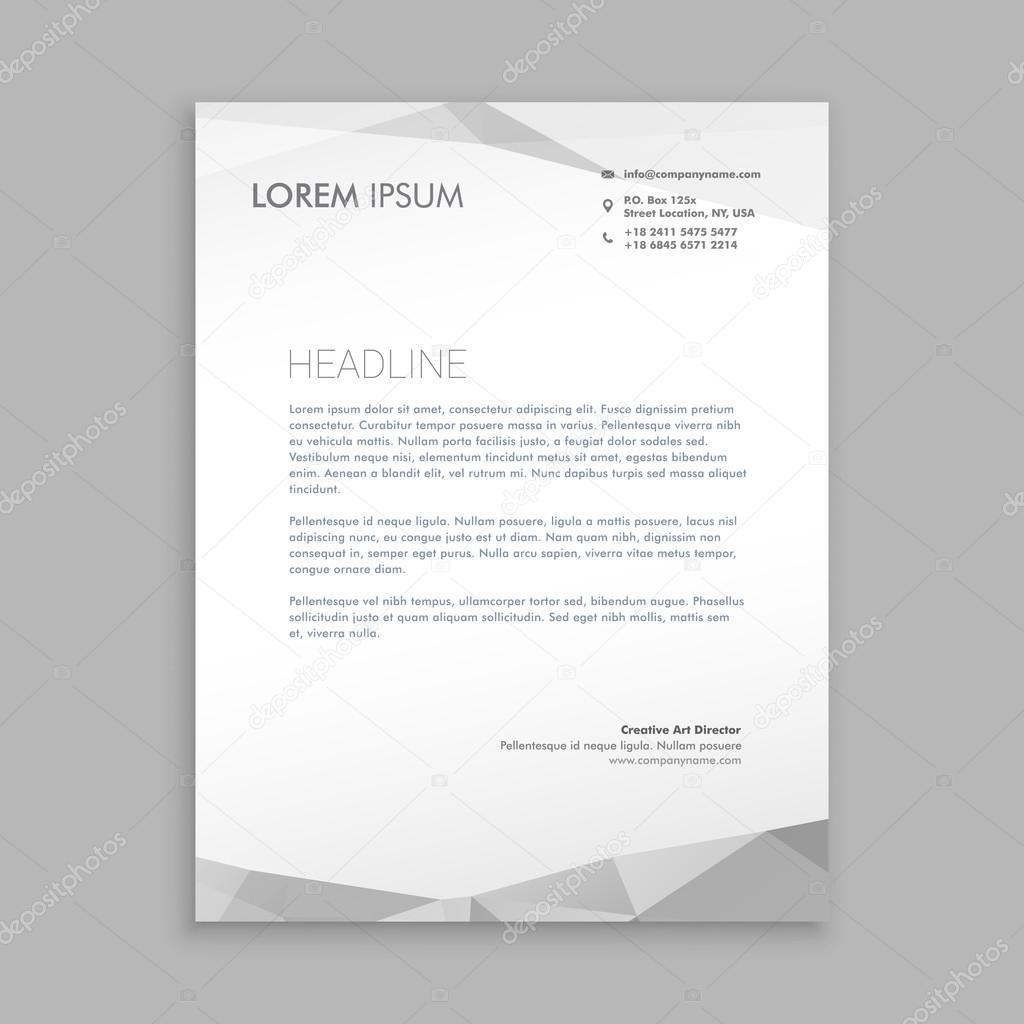 Stilvolle Moderne Briefbogen Gestaltung Stockvektor Starline