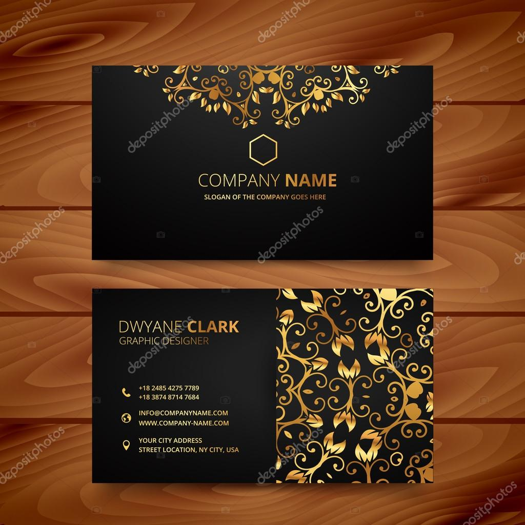 Conception De Modele Carte Visite Premium Or Elegant Luxe Illustration Stock