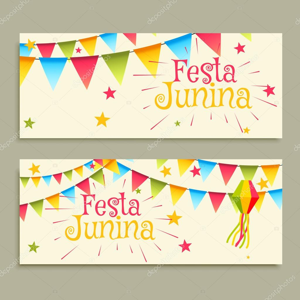 Festa Junina Celebration Banners Stock Vector C Starline 112577168