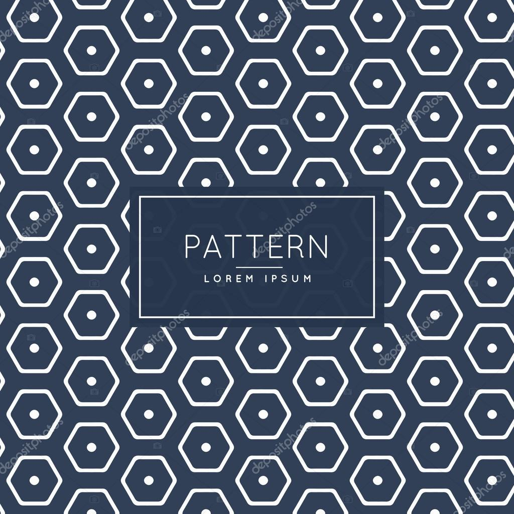 stilvolle hexagonalen Muster Vorlage — Stockvektor © StarLine #114720000