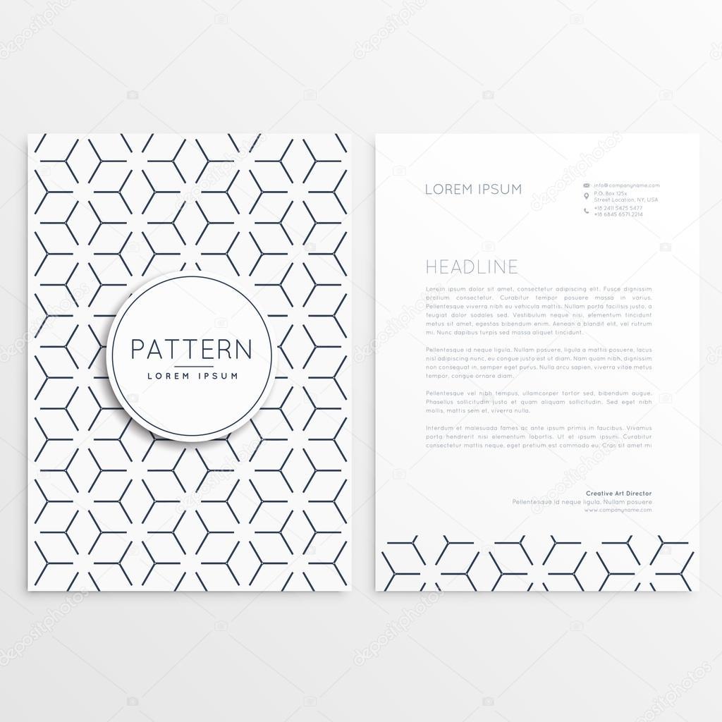 Briefkopf Vorlagendesign Mit Muster Form Stockvektor Starline