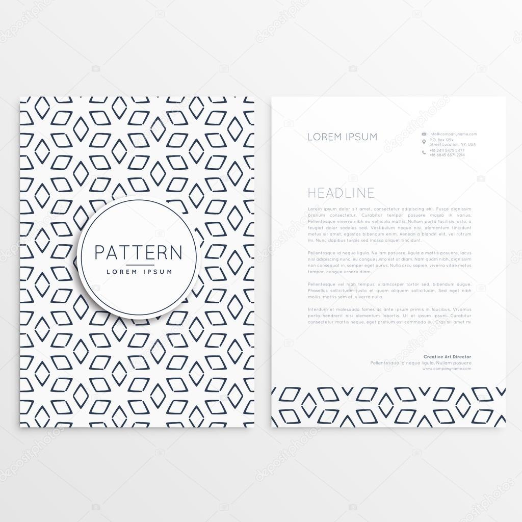 Abstrakte Muster Form Briefkopf Vorlage Stockvektor Starline