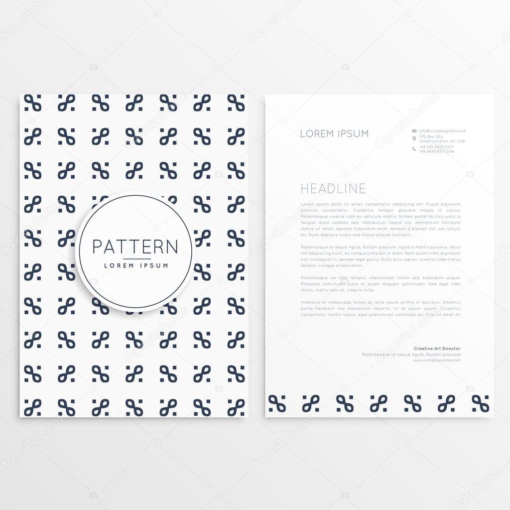 Firma Briefkopf Design Mit Sauberen Muster Stockvektor Starline