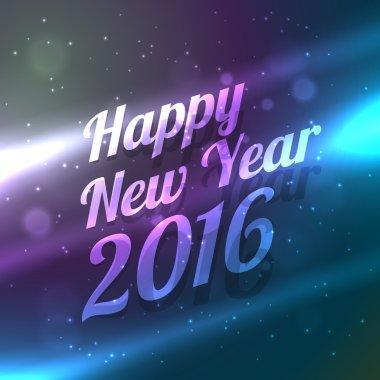 happy new year shiny glowing background