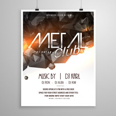metal club music party flyer poster