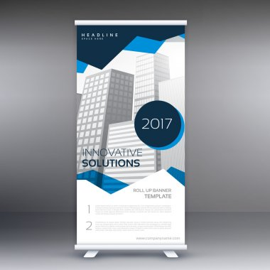 abstract geometric roll up banner template