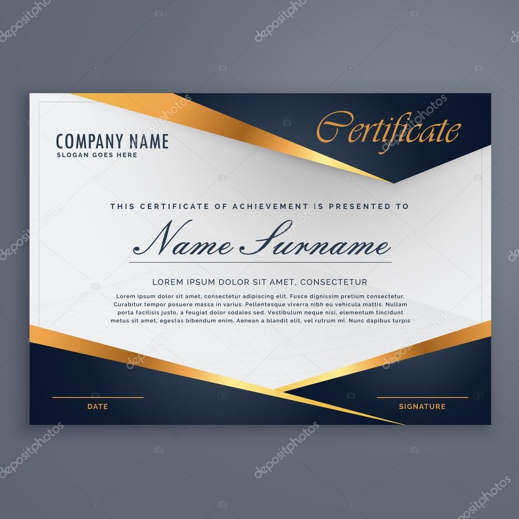 Premium-Diplom Luxus Zertifikatvorlage — Stockvektor © StarLine ...
