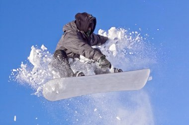 Snowboarder in air