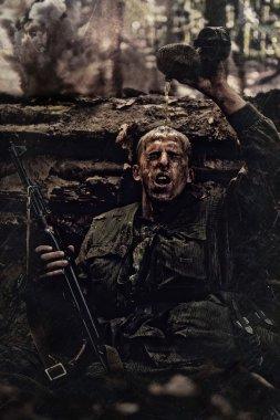soldier in defence  world war