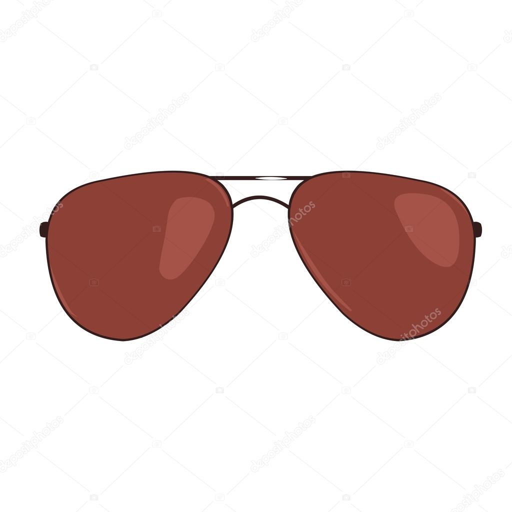 3697053ea190d Vector Single Cartoon Sunglasses on White Background — Vector by ...