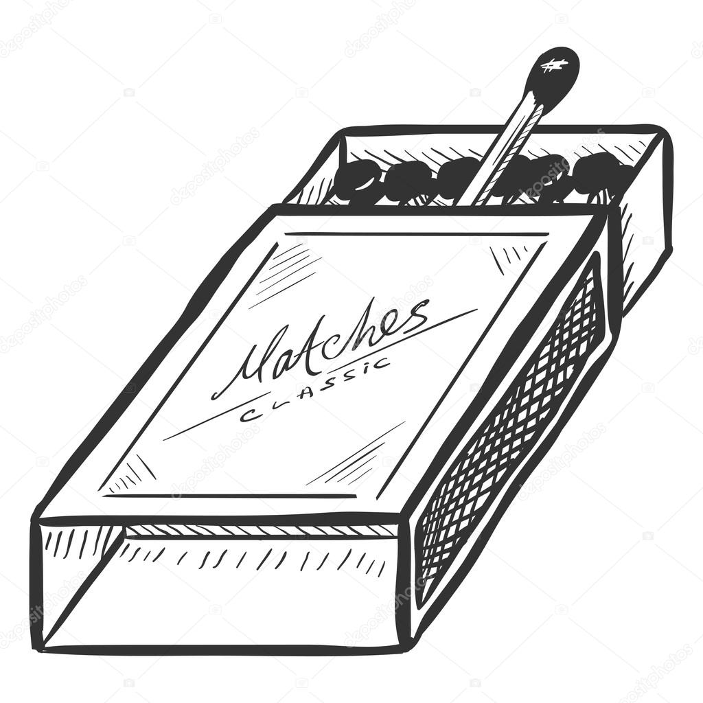Open Matchbox with Matches — Stock Vector © nikiteev #116385276 for Matches Clip Art  165jwn