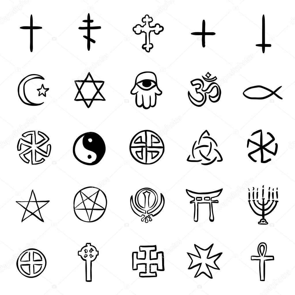 Doodle Religious Symbols Stock Vector Nikiteev 117696638
