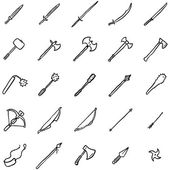 Photo Doodle Medieval Weapon Icons