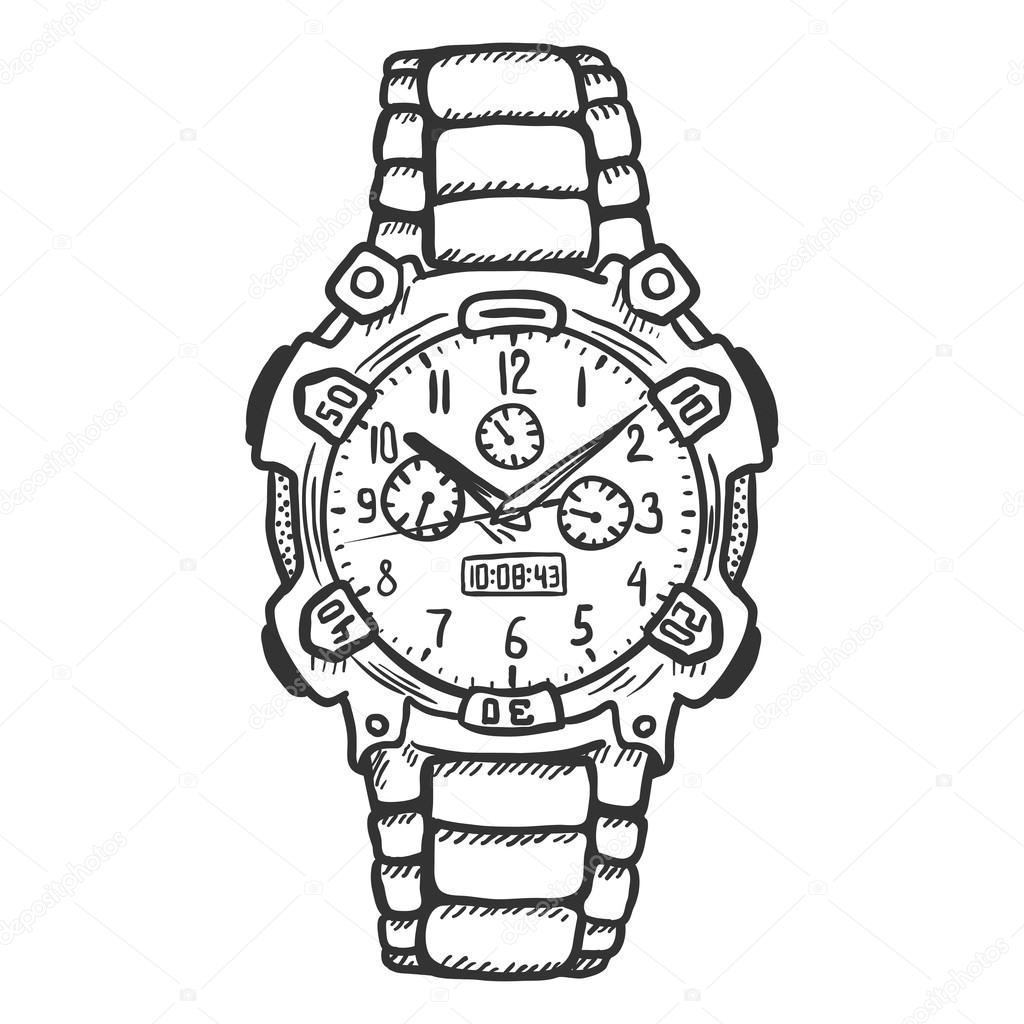 wrist watch coloring pages - photo#21