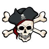 Pirátská lebka v tricorn
