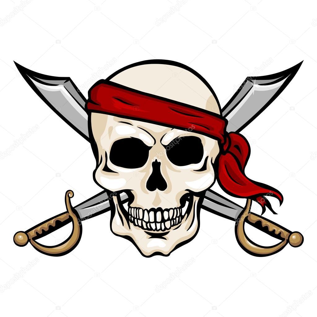 Dibujos Piratas Calaveras Calavera Pirata En Paliacate Rojo Con