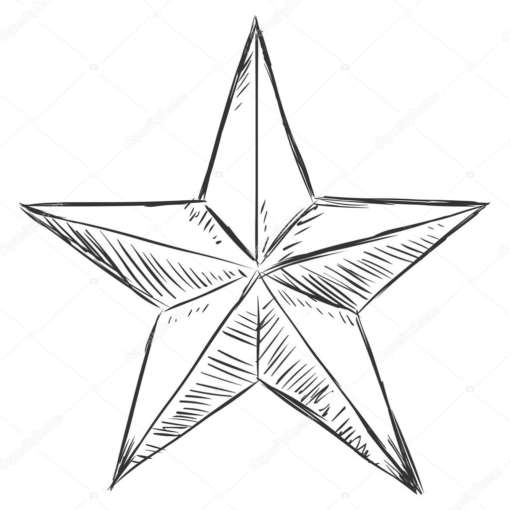 Sketch Star Stock Vector 169 Nikiteev 57087371