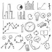 Reihe von Skizzen Business-Infografik