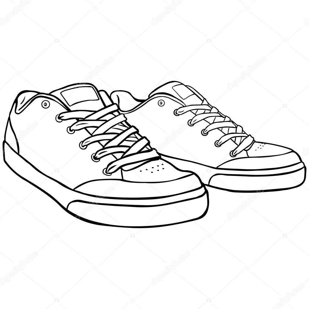 Trait Chaussures Patineurs Image Vectorielle Nikiteev — Dessin Au sxrdCthQ