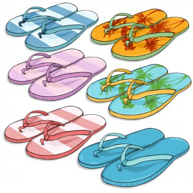 Set of Beach Slippers