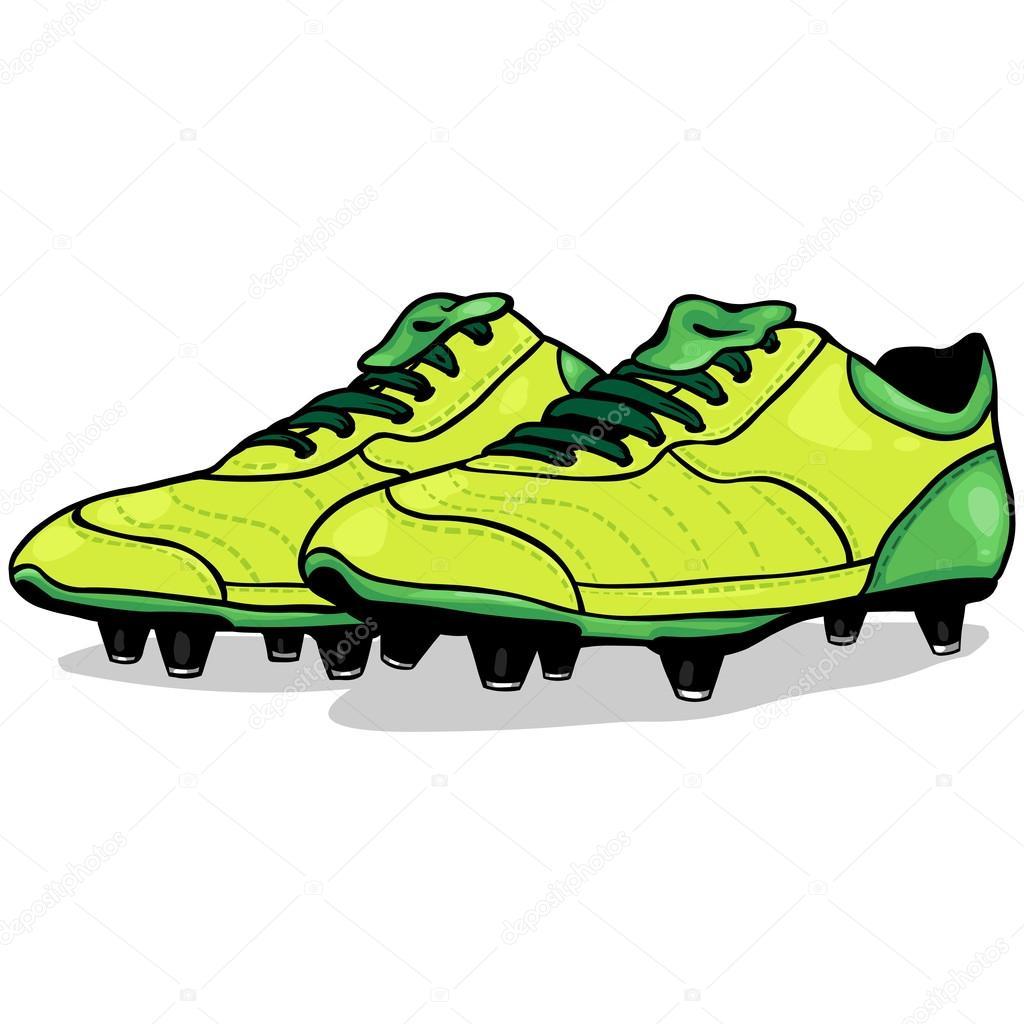 Fumetto Calcio Vettoriale Da — Scarpe Del Stock 5q7tyAz