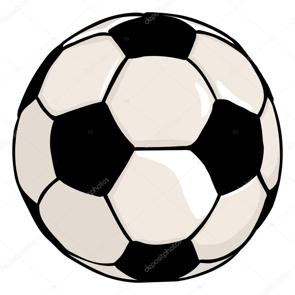 cartoon soccer ball stock vector nikiteev 57633387 rh depositphotos com