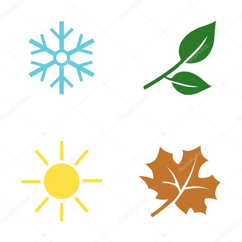 Symbole Jahreszeiten