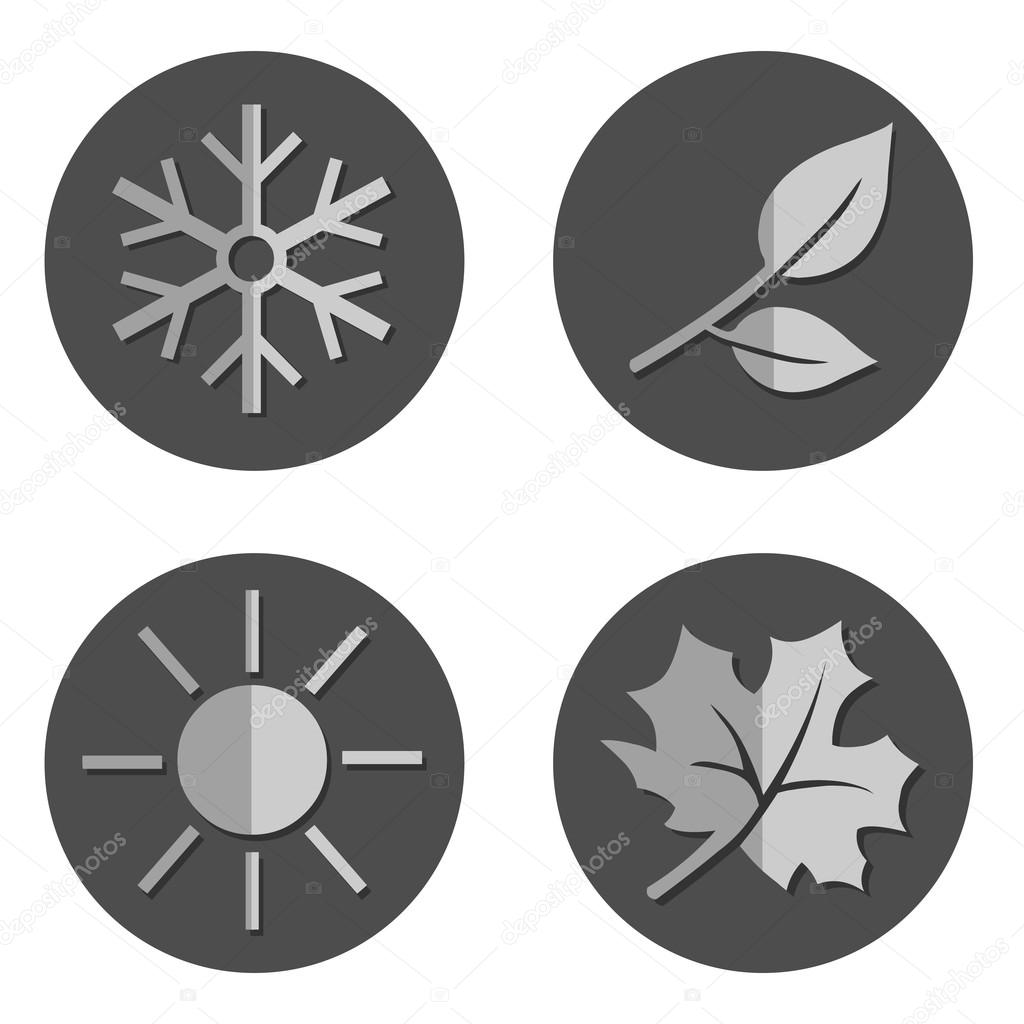 Set of Seasons Icons.